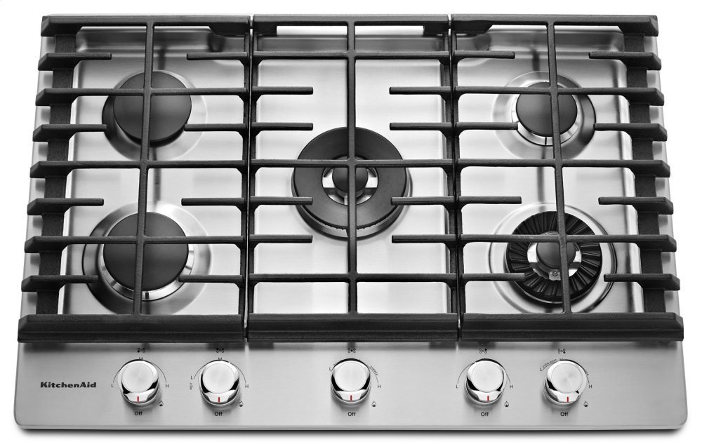 Kitchenaid 30 5 Burner Gas Cooktop With Griddle Stainless Steel