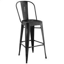 Promenade Bar Side Stool in Black