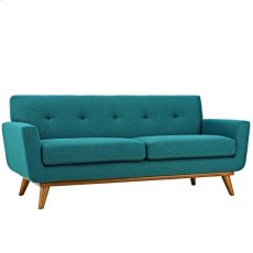 Engage Upholstered Loveseat in Teal Product Image