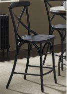 X Back Counter Chair - Black Product Image