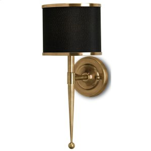 Primo Black Brass Wall Sconce