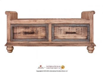 2 Drawer Bedroom Bench Product Image