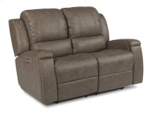 Asher Leather Power Reclining Loveseat with Power Headrests