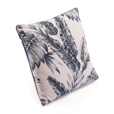 Black Leaves Pillow Black & Beige Product Image