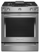 30-Inch 5-Burner Dual Fuel Convection Slide-In Range with Baking Drawer - Stainless Steel Product Image