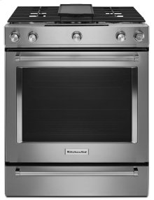30-Inch 5-Burner Dual Fuel Convection Slide-In Range with Baking Drawer - Stainless Steel
