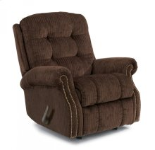 Mackenzi Fabric Recliner with Nailhead Trim