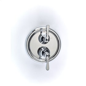 Polished Chrome Summit (Series 11) Dual Control Thermostatic with Volume Control Valve Trim