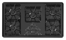 36-inch Wide Gas Cooktop with Two Power Cook Burners