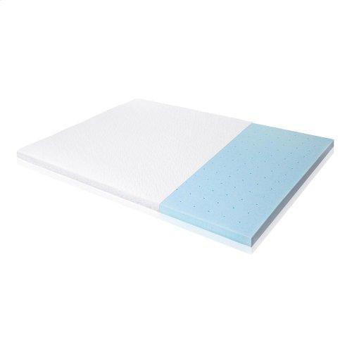 """2.5"""" Gel Memory Foam Mattress Topper - Full"""