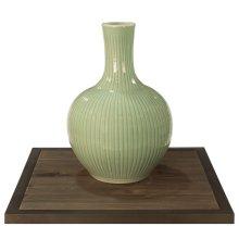 Celadon Carved Bamboo Globular Vase