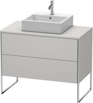 Vanity Unit For Console Floorstanding, Nordic White Satin Matt Lacquer