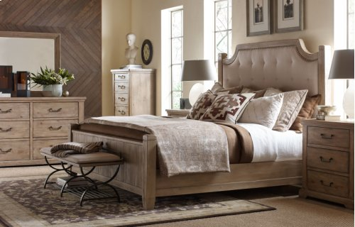 Monteverdi by Rachael Ray Complete Upholstered Low Post Bed, CA King 6/0