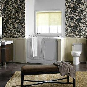 Acrylic Luxury Series Walk-in Tub with Combination Massage Left Drain  American Standard - Linen