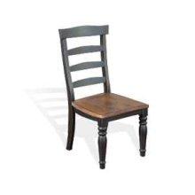Bourbon County Ladderback Chair w/ Wood Seat