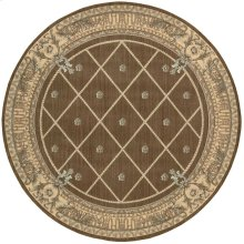 Ashton House As03 Mink Round Rug 5'6'' X 5'6''