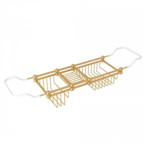 "English Gold Perrin & Rowe Edwardian 28-32"" Bath Rack"
