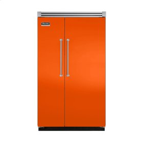 "Pumpkin 48"" Quiet Cool™ Side-by-Side Refrigerator/Freezer - VISB Tru-Flush™ (48"" wide)"
