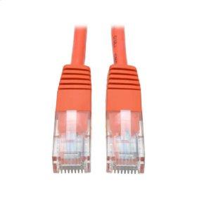 Cat5e 350MHz Molded Patch Cable (RJ45 M/M) - Orange, 14-ft.