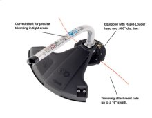 Curved Shaft Trimmer PAS Attachment -