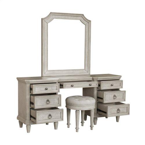 Linen Grace Upholstered Vanity Stool
