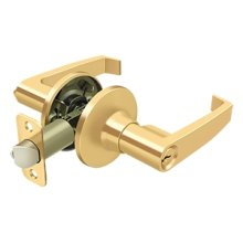 Linstead Lever Entry - PVD Polished Brass