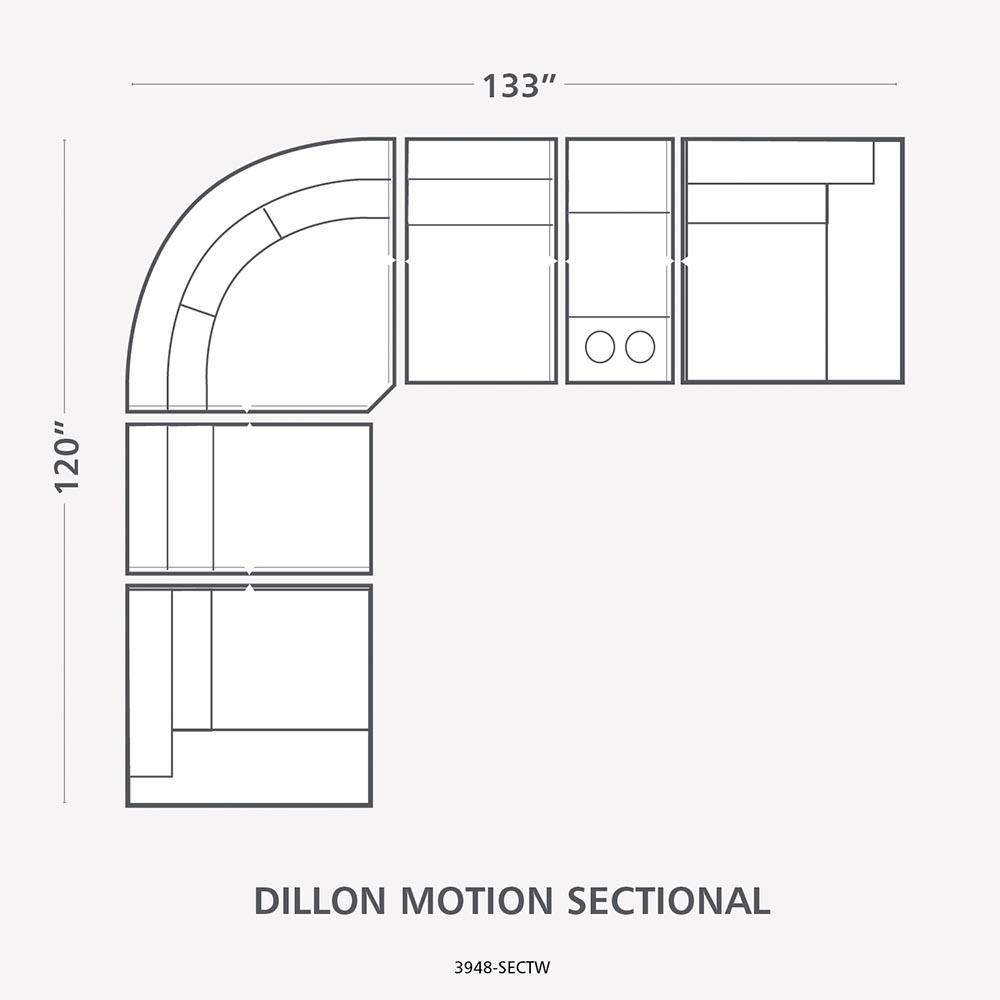 Hidden · Additional Standard Dillon Motion Sectional  sc 1 st  Design Center Furniture : bassett dillon sectional - Sectionals, Sofas & Couches