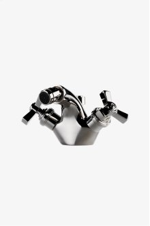Aero One Hole Bidet Fitting with Cross Handles STYLE: AEBF10