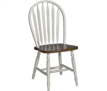 Small Windsor Chair Alabaster & Espresso