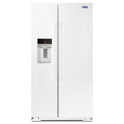 Maytag® 36- Inch Wide Side-by-Side Refrigerator with External Ice and Water- 26 Cu. Ft. - White