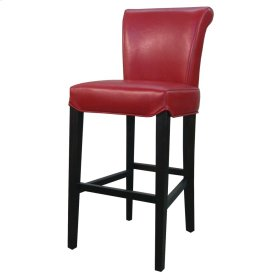 Bentley Leather Bar Stool, Red