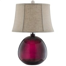 Burgundy Glass Table Lamp