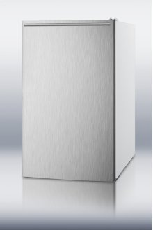 """20"""" Wide Built-in Undercounter All-freezer for General Purpose Use, -20 C Capable With A Stainless Steel Door, Horizontal Handle and White Cabinet"""