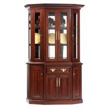 """51"""" Queen Victoria Canted Hutch & Buffet"""