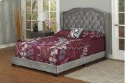 Dark Grey Velvet Full Bed Product Image