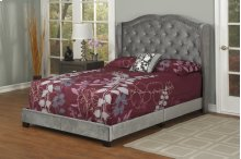 Dark Grey Velvet Full Bed