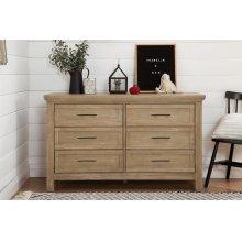 Emory Farmhouse 6-Drawer Dresser