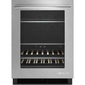 """24"""" Under Counter Beverage Center, Euro-Style Stainless Handle"""