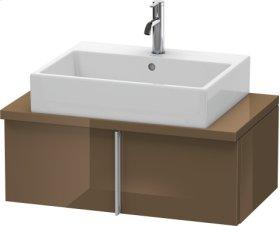 Vero Vanity Unit For Console Compact, Olive Brown High Gloss Lacquer