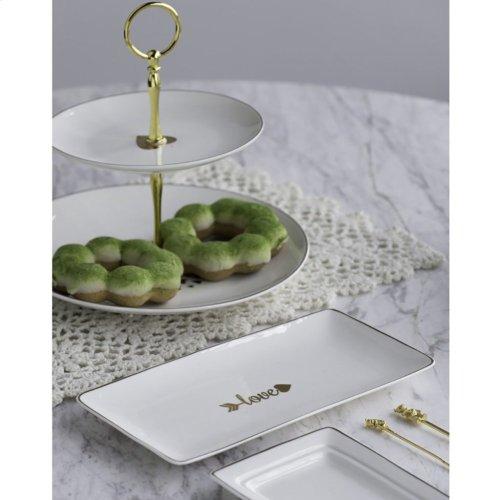 Two-Tier Dessert Plate
