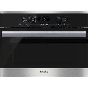 MieleBuilt-in microwave oven with controls along the top for optimal combination possibilities.