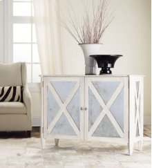 Mirror Two Door Cabinet-antique White, Antique Mirror. Weathered Solids With Antique White Paint