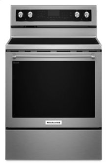 Floor Model - 30-Inch 5-Element Electric Convection Range - Stainless Steel