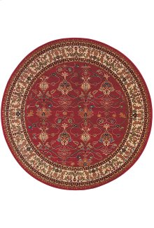 William Morris Red Round 4ft 11in x 4ft 11in