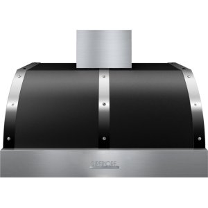 SuperioreHood DECO 36'' Black matte, Chrome 1 blower, electronic buttons control, baffle filters