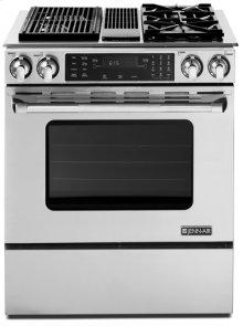Stainless Steel Jenn-Air® Slide-In Modular Dual-Fuel Downdraft Range with Convection, 30""