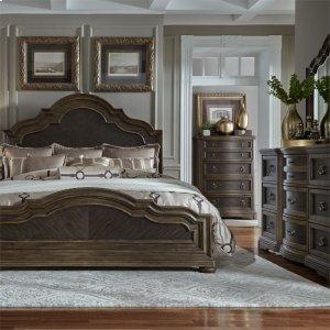 Liberty Furniture Industries Queen Panel Bed, Dresser & Mirror, Chest, Ns