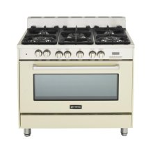 """Antique White (Bisque) 36"""" Dual Fuel Convection Range with Single Oven"""