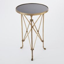 Directoire Table-Brass/Black Granite