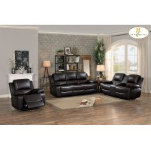 Double Glider Reclining Love Seat with Center Console
